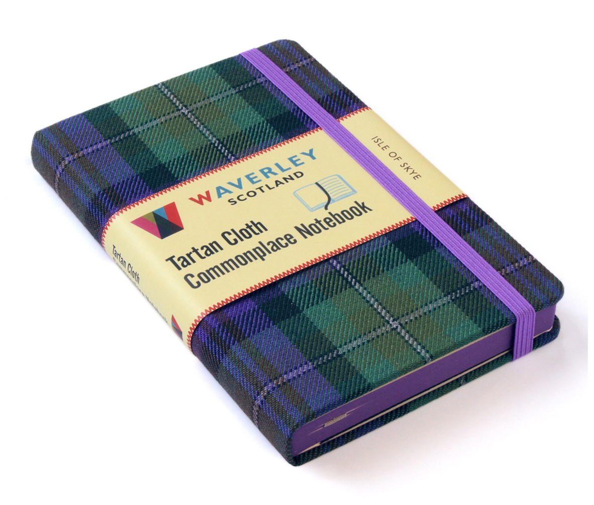Waverley (M): Isle of Skye Tartan Cloth Commonplace Notebook
