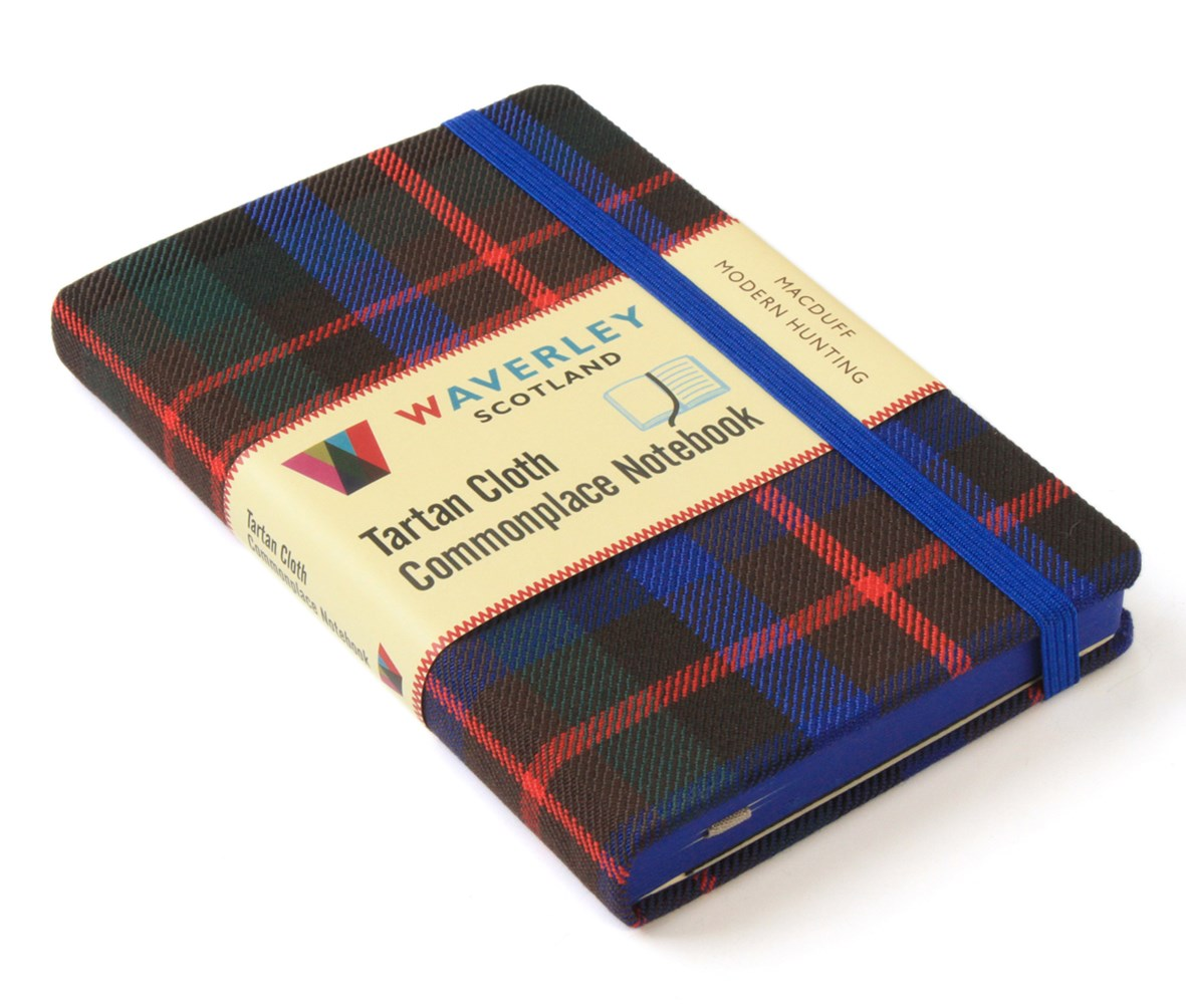 Waverley (M): MacDuff Modern Hunting Tartan Cloth Commonplace Pocket Notebook