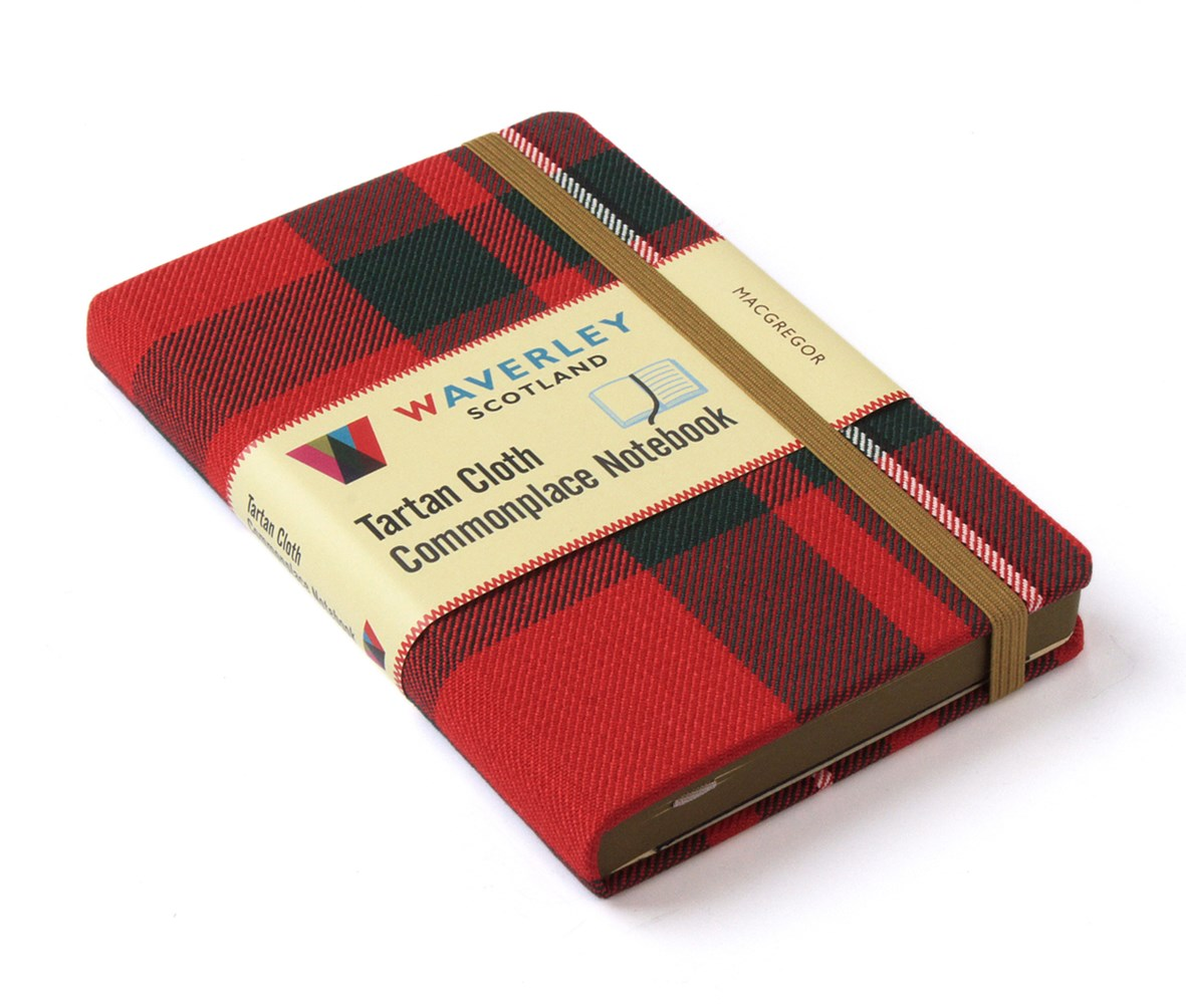 Waverley (M): MacGregor Tartan Cloth Commonplace Notebook
