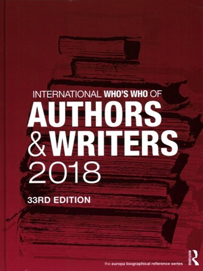 International Who's Who of Authors and Writers 2018