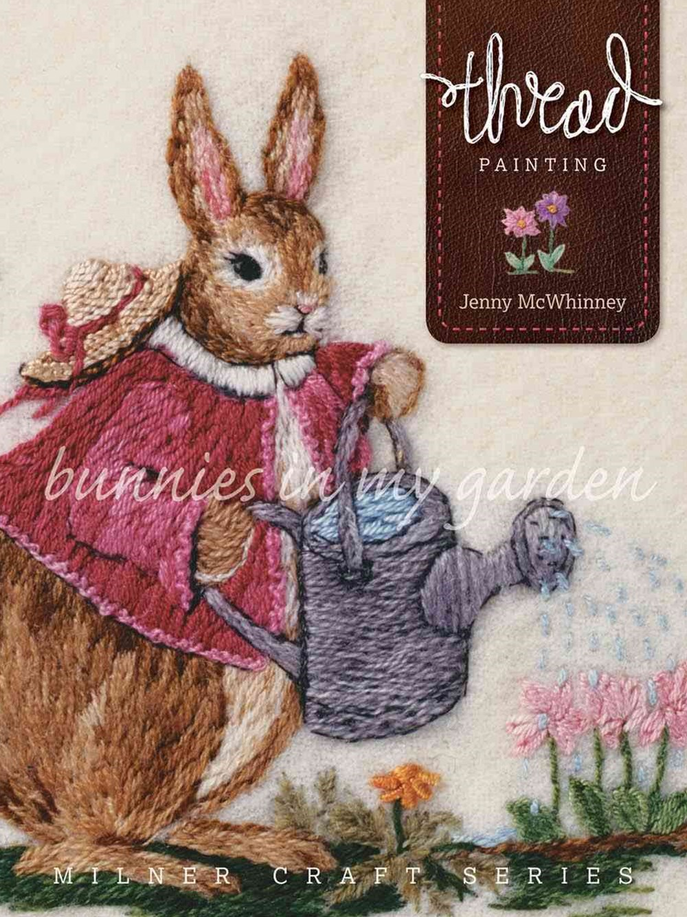 Thread Painting - Bunnies in my Garden
