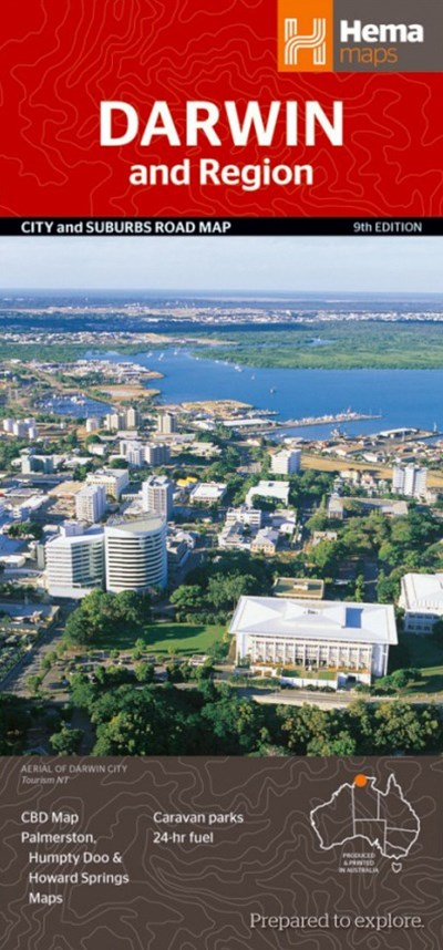 Darwin and Region City and Suburbs Road Map