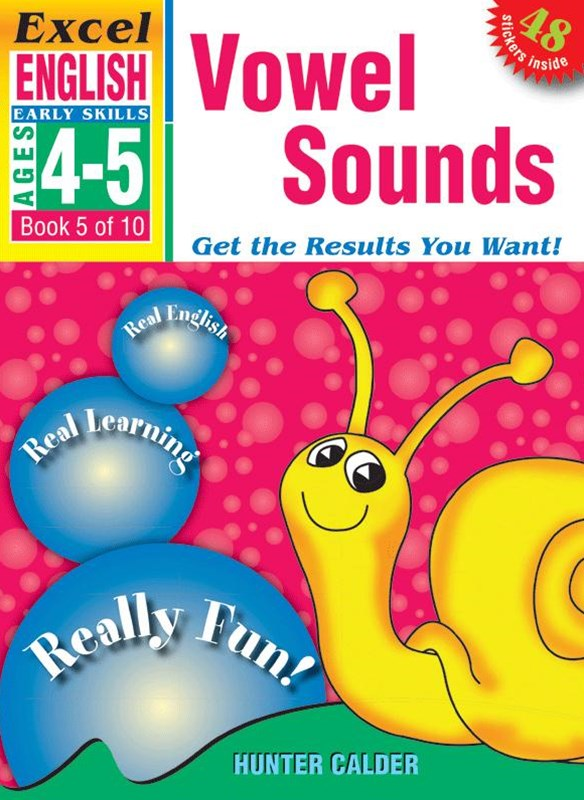 Excel Early Skills English Book 5: Vowel Sounds Ages 4–5