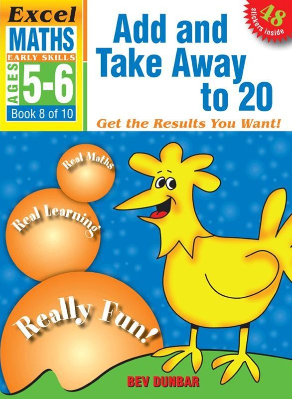 Excel Early Skills Maths Book 8: Add and Take Away to 20 Ages 5GÇô6