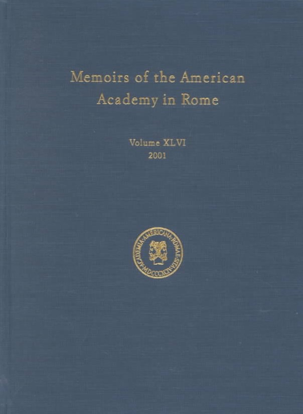 Memoirs of the American Academy in Rome