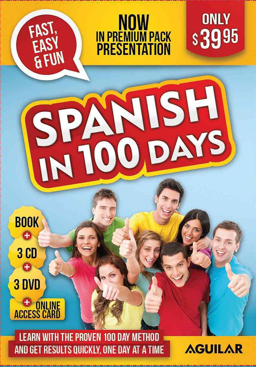 Spanish in 100 Days - Premium Pack (book, 3 CDs, 3 DVDs and Internet Access Card)