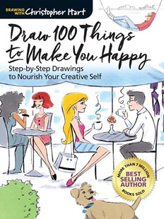 Draw 100 Things to Make You Happy by Christopher Hart (9781942021865) - PaperBack - Art & Architecture Art Technique