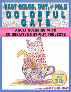 Easy Color, Cut, and Fold Colorful Cats