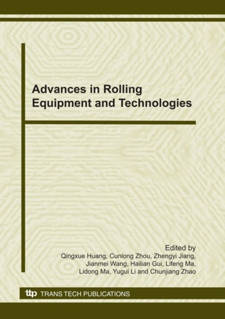 (ebook) Advances in Rolling Equipment and Technologies