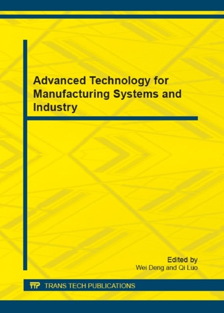 (ebook) Advanced Technology for Manufacturing Systems and Industry