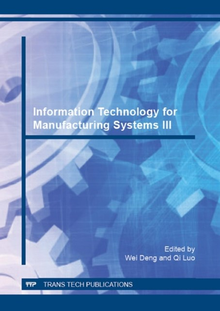(ebook) Information Technology for Manufacturing Systems III