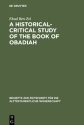 Historical-Critical Study of the Book of Obadiah