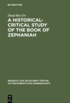 Historical-Critical Study of the Book of Zephaniah