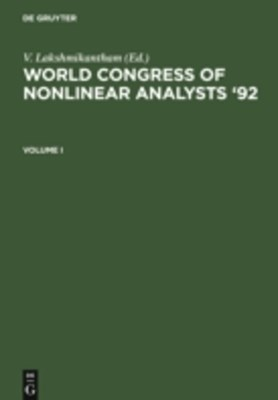 World Congress of Nonlinear Analysts '92