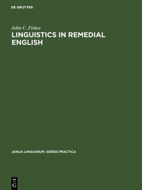 Linguistics in remedial English