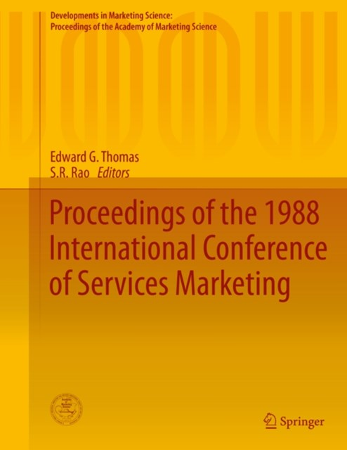Proceedings of the 1988 International Conference of Services Marketing