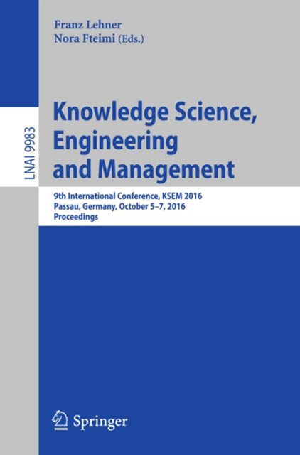 (ebook) Knowledge Science, Engineering and Management