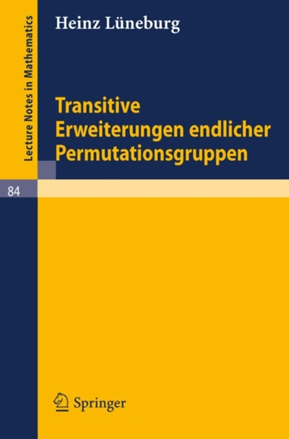 (ebook) Transitive Erweiterungen endlicher Permutationsgruppen
