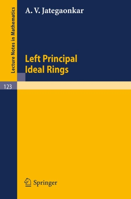 Left Principal Ideal Rings