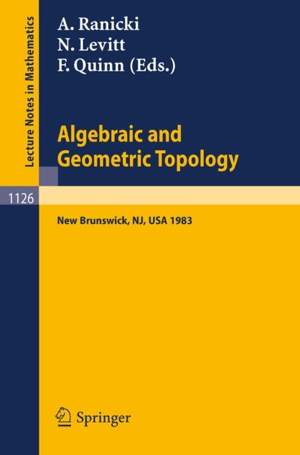 (ebook) Algebraic and Geometric Topology