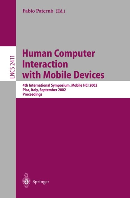 Human Computer Interaction with Mobile Devices