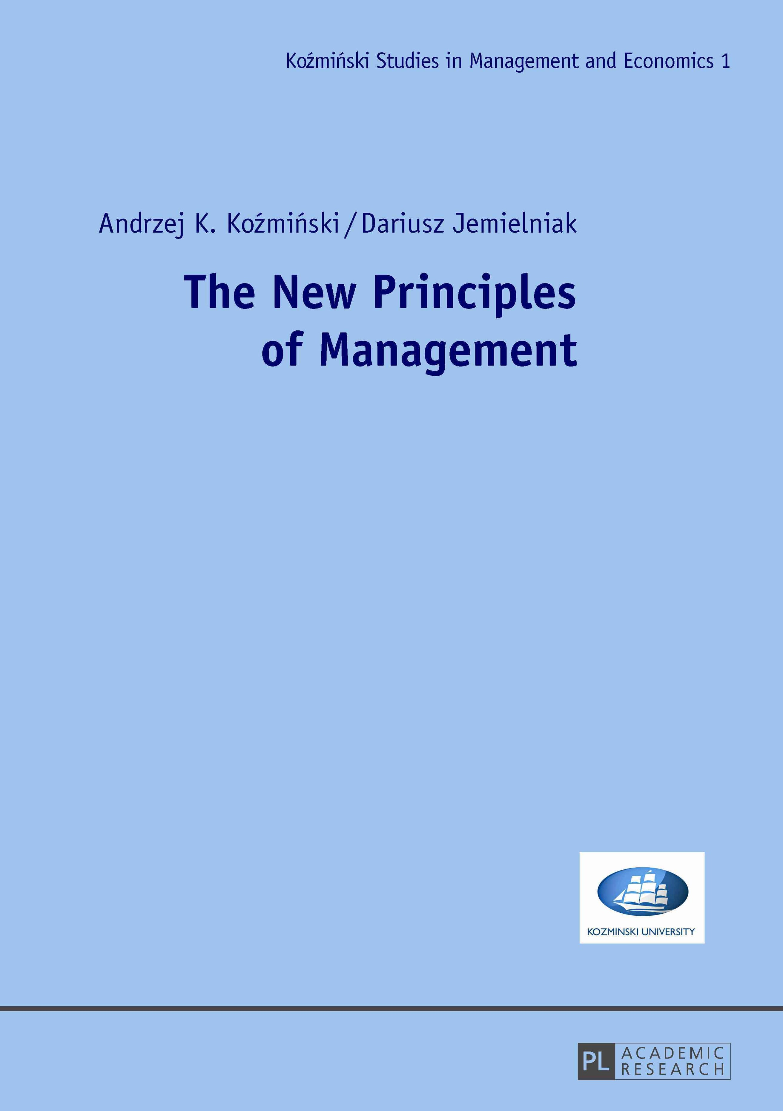 New Principles of Management