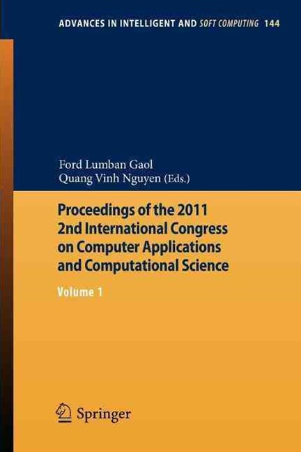 Proceedings of the 2011 2nd International Congress on Computer Applications and Computational Scien