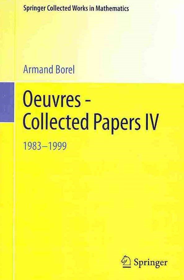Oeuvres - Collected Papers, 1983-1999