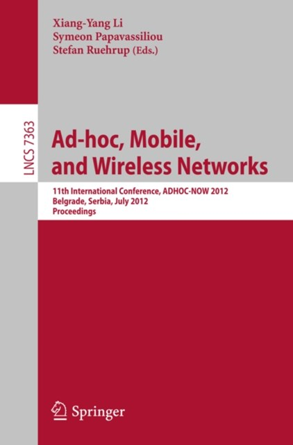 (ebook) Ad-hoc, Mobile, and Wireless Networks