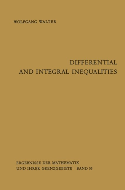 (ebook) Differential and Integral Inequalities