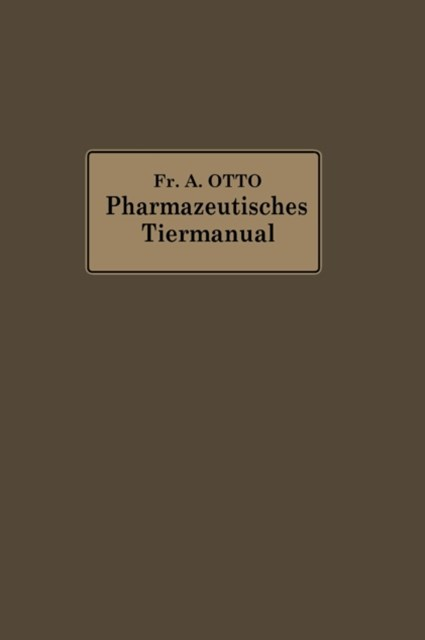 Pharmazeutisches Tier-Manual