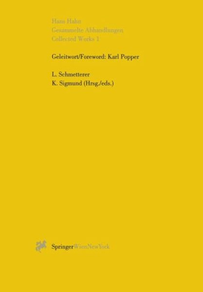Gesammelte Abhandlungen I - Collected Works I