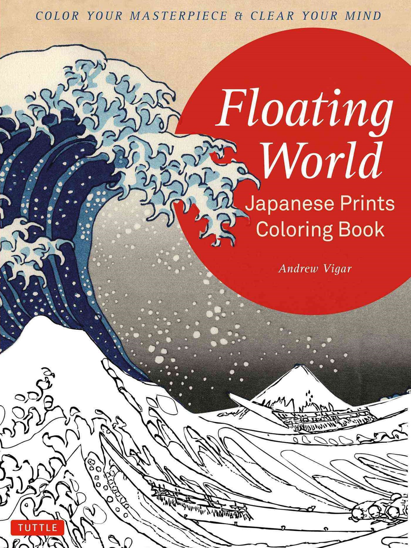 Floating World Japanese Prints Colouring Book