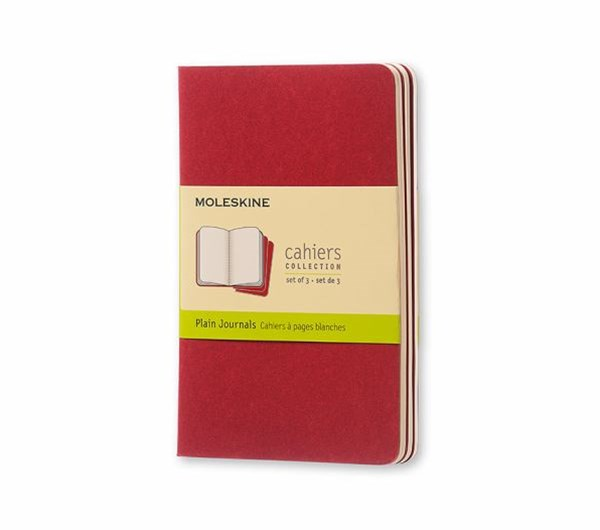 Moleskine - Cahier Notebook - Set of 3 - Plain - Pocket - Cranberry Red