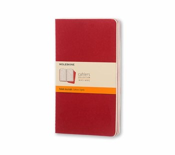 Moleskine - Cahier Notebook - Set of 3 - Ruled - Large - Cranberry Red - Notebooks & Journals Notebook - Ruled