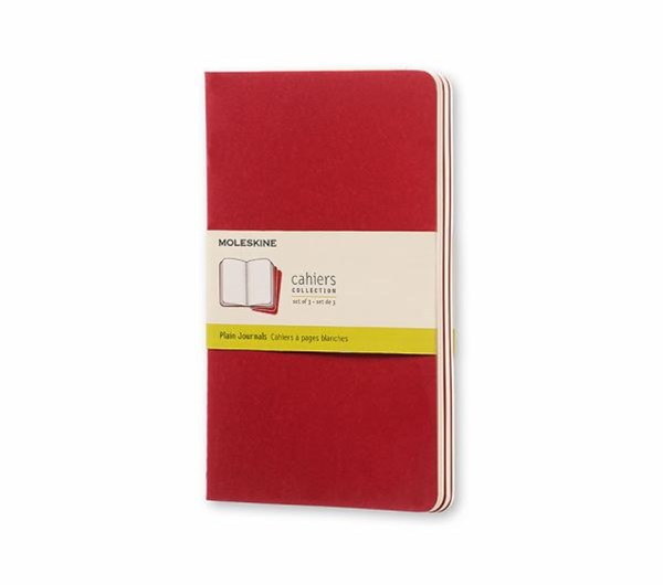 Moleskine - Cahier Notebook - Set of 3 - Plain - Large - Cranberry Red