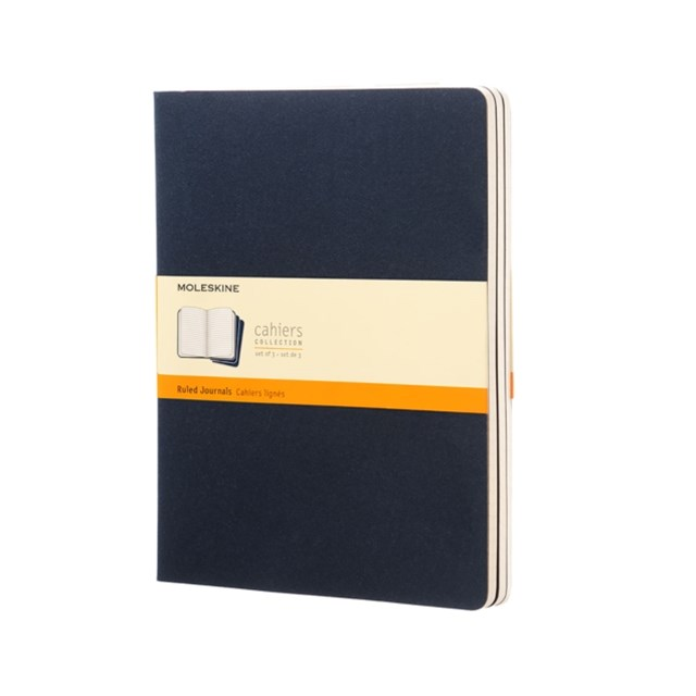 Moleskine Ruled Cahier Journal X-Large, Blue