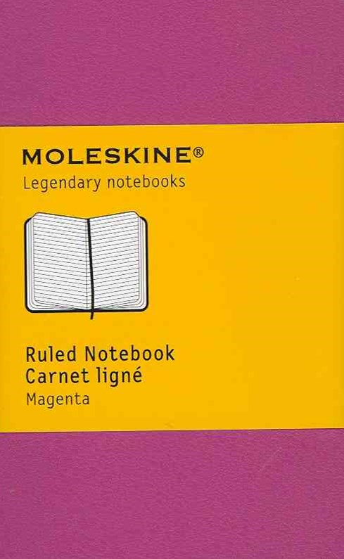 Moleskine Extra Small Dark Pink Ruled Notebook Hard