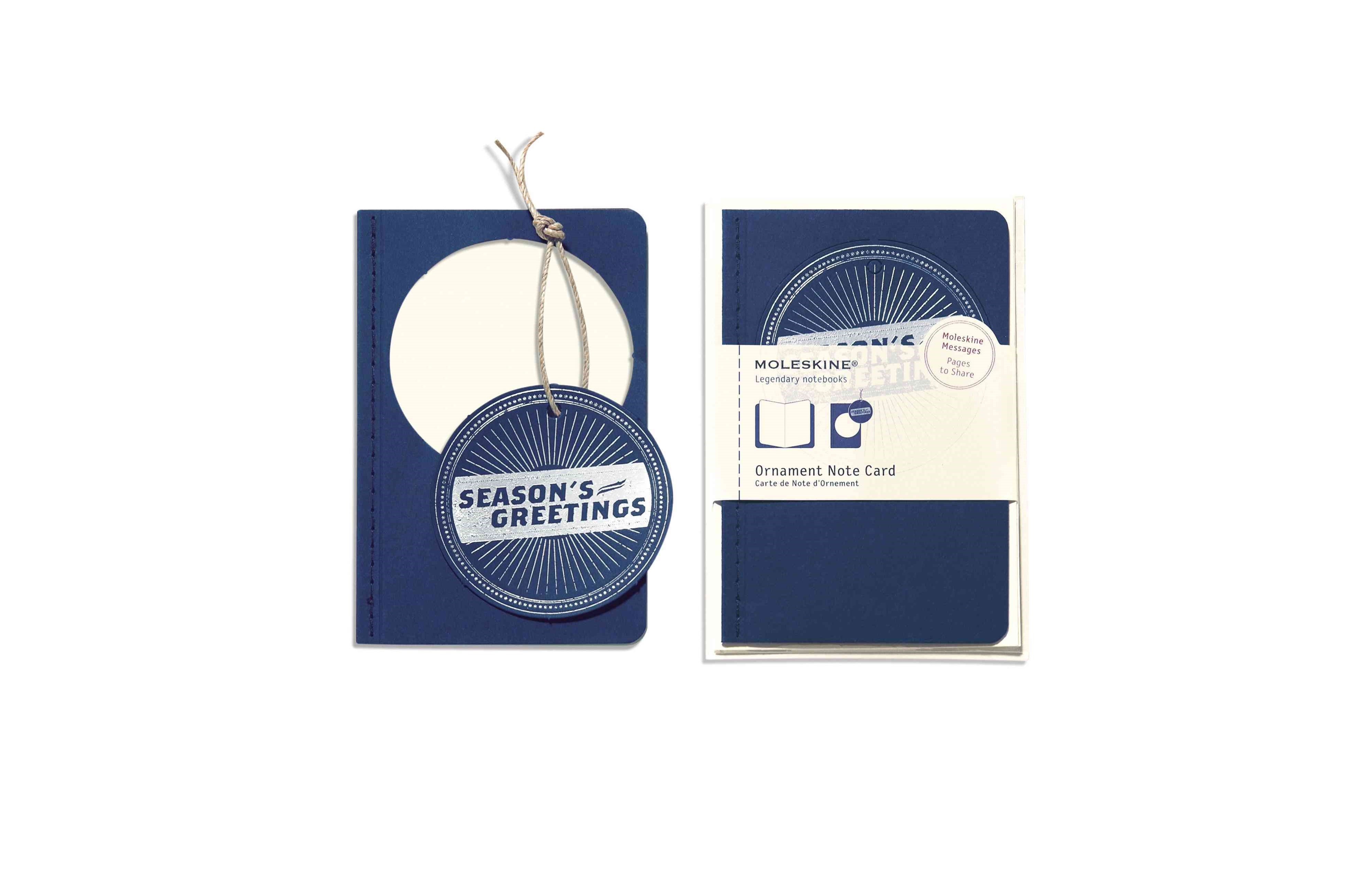 Moleskine Ornament Card Pocket - Season's Greetings