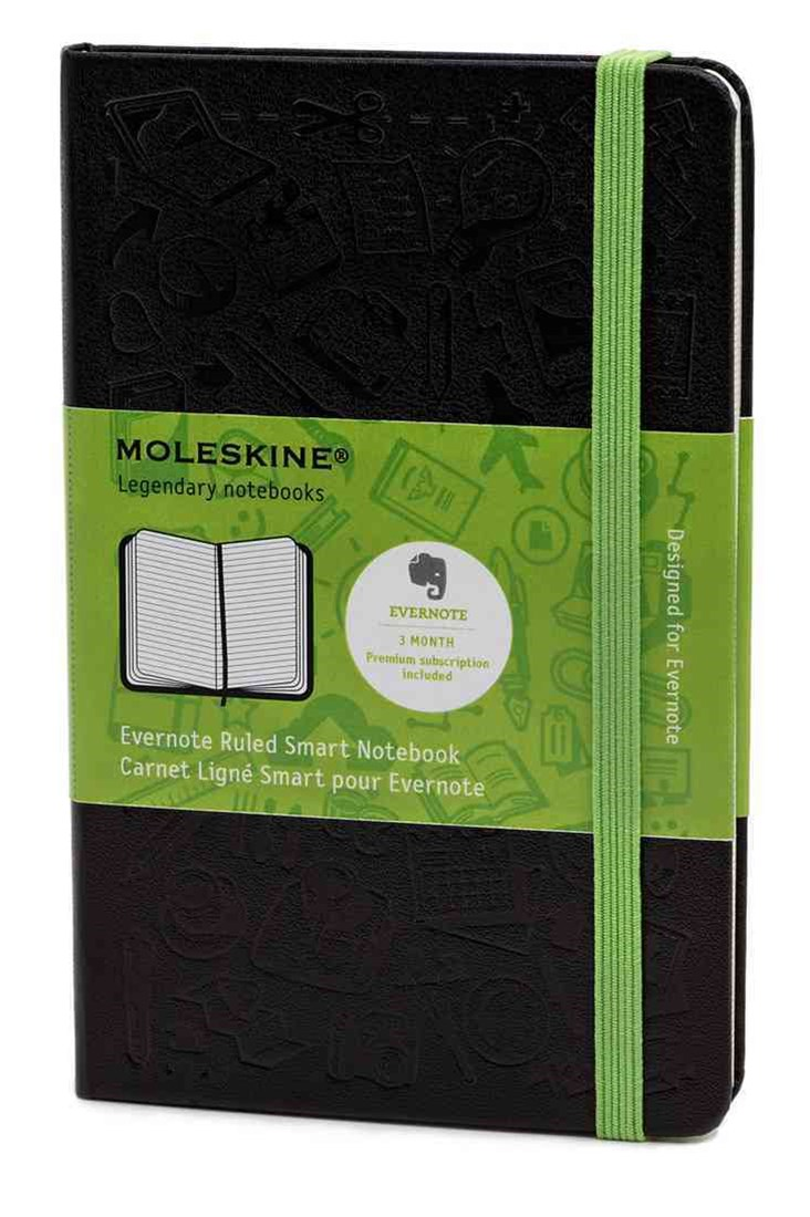 Pocket Ruled Black Hard Evernote Notebook