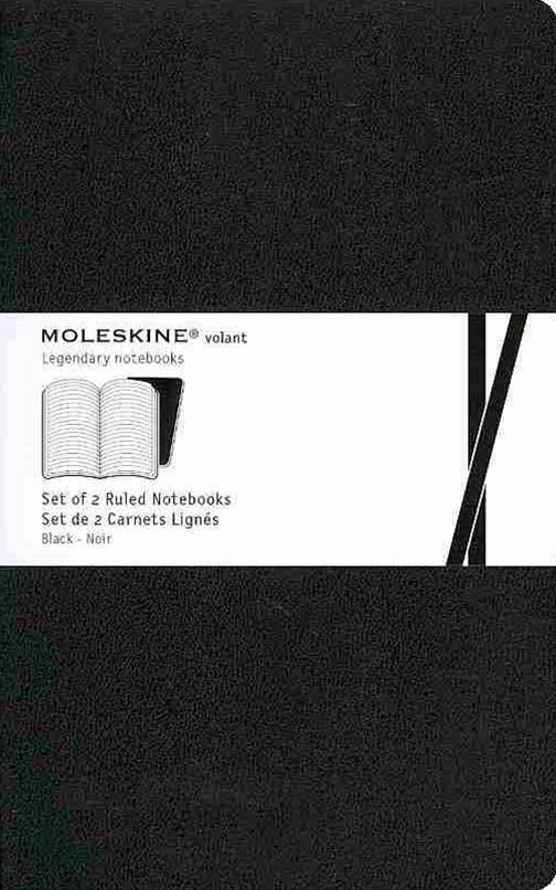 Moleskine - Volant Notebook - Set of 2 - Ruled - Large - Black
