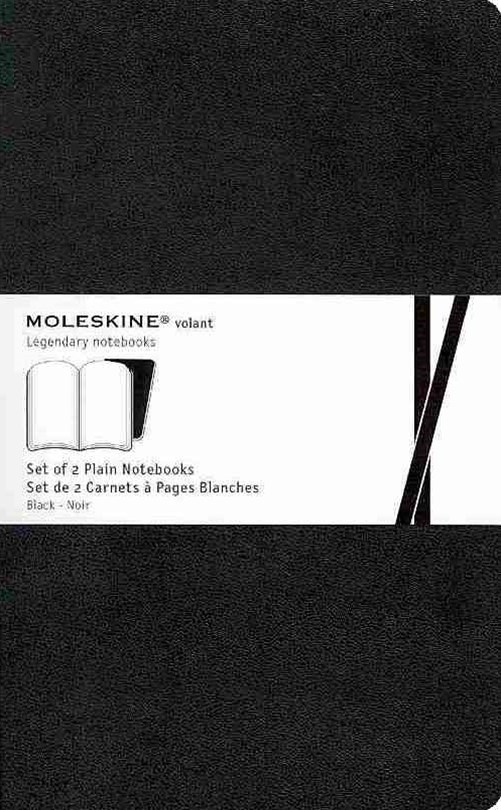 Moleskine - Volant Notebook - Set of 2 - Plain - Large - Black
