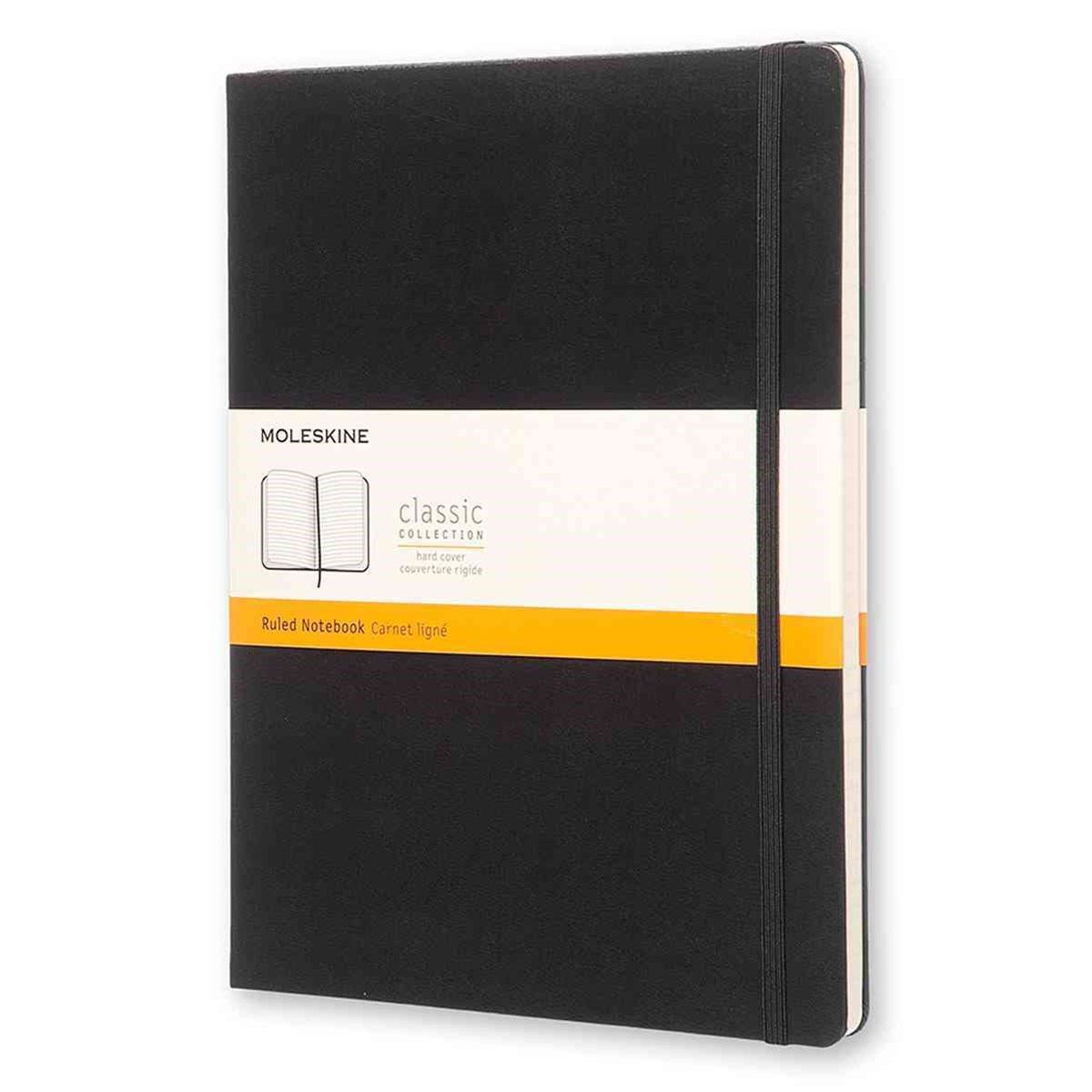 Moleskine - Classic Hard Cover Notebook - Ruled - Extra Large - Black