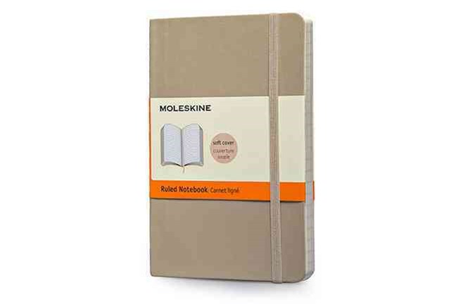 Moleskine - Classic Soft Cover Notebook - Ruled - Pocket - Khaki