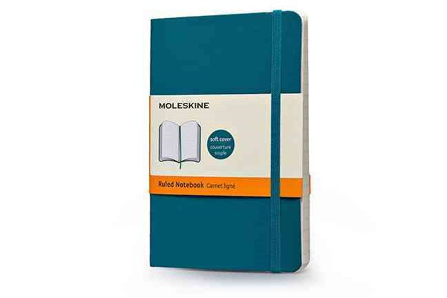 Moleskine - Classic Soft Cover Notebook - Ruled - Pocket - Underwater Blue