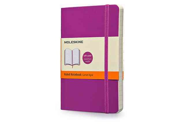Moleskine Soft Cover Orchid Purple Pocket Ruled Notebook