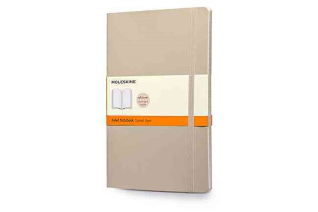 Moleskine - Classic Soft Cover Notebook - Ruled - Large - Khaki