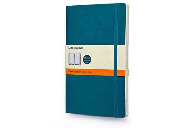 Moleskine Soft Large Underwater Blue Ruled Notebook