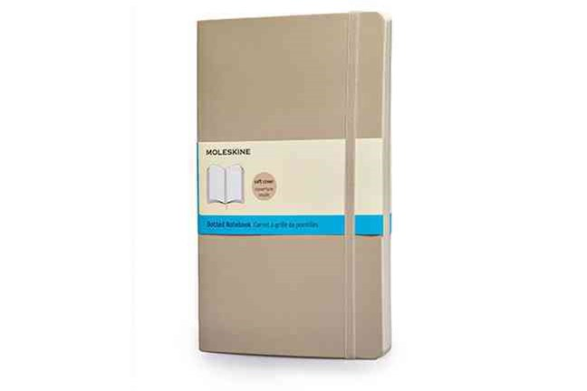 Moleskine Soft Large Khaki Beige Dotted Notebook