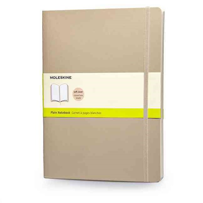Moleskine - Classic Soft Cover Notebook - Plain - Extra Large - Khaki